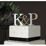 Monogramm Buchstabe Tortenaufsatz für Hochzeit personalisiert mit A B C D E F G H I J K L M N O P N R S T U V W x Y Z