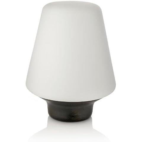 Philips Wellness - Lámpara de mesa, 1 x 15 W, 220 V, de madera, color marrón oscuro
