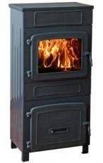 Kohle-Holz-Werkstattofen (Korpus aus robustem Gusseisen * Der grossvolumige Feuerraum ist hitzebes)