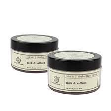 Khadi Natural Milk & saffron HAND CREAM - with sheabutter - 50gms