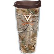nia Cavaliers UVA Realtree Camo Wrap 24oz with Lid by Tervis ()