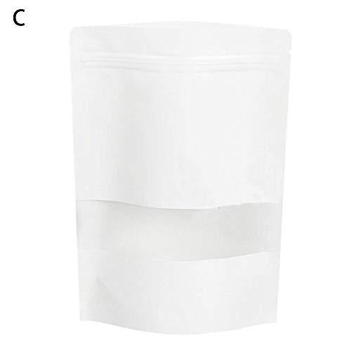 xuanyang 10 STÜCKE versiegelt Beutel kleine Matt Weiß Kraftpapier Selbstdichtende Druckverschlussbeutel Melone Trockene Lebensmittelverpackungen Taschen Aufstehen Taschen