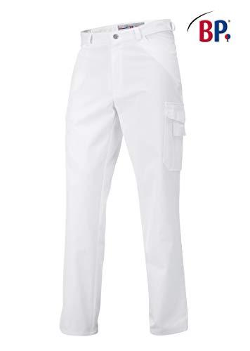 BP 1641-558 unisex Jeans aus strapazierfähigem Mischgewebe weiß, Größe Sl