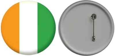 Miroir insigne de bouton Côte d'Ivoire drapeau - 58mm
