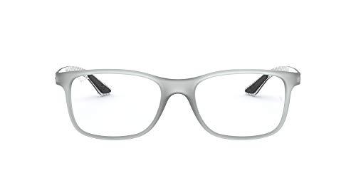 Ray-Ban Herren RX8903 Brillengestell, Grau (Matte Transparente Grey), 53