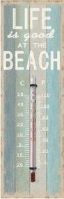 Thermomètre Mural Beach, métal
