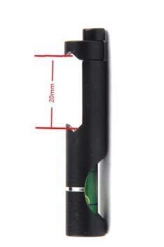 FMN-TOOLS, 11mm / 20mm Picatinny Weaver Rail mit Wasserwaage für taktisches Gewehr/Luftgewehr-Zielfernrohr für Outdoor-Jagdzubehör (Color : 20mm)