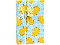 Ducky Waves Gift Wrapping Roll 24 x 15' - Baby Shower Gift Wrap Paper by Premium Gift Wrap