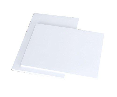 House of card & Paper, Risma di carta A5, grammatura: 250g/mq–colore: bianco (confezione da 100fogli)