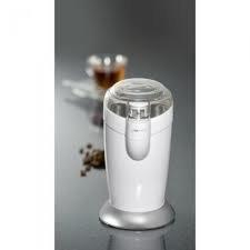 Clatronic KSW 3306 - Molinillo eléctrico de café, especias, semillas o granos, 120W, capacidad 40gr 20 tazas de café, cuchillas acero inoxidable, tamaño compacto, color blanco