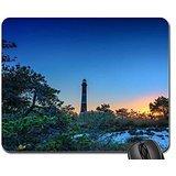 tall-lighthouse-among-beach-shrubs-at-twilight-hdr-mouse-pad-mousepad-lighthouses-mouse-pad