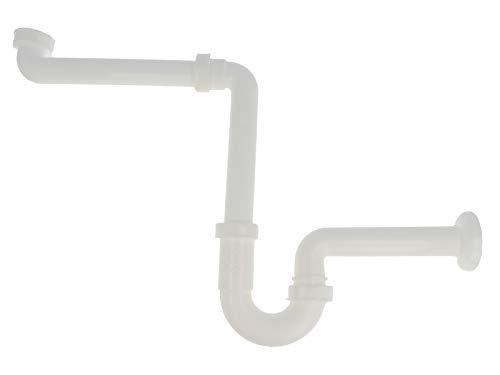 tecuro Raumspar - Röhren-Geruchsverschluss für Waschtisch