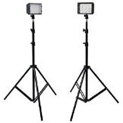 Neewer- (2) 126 LED Luz Fotografía y (2) Soportes de Luz de 190 cm Kit para Cámara DSLR y Videocámara