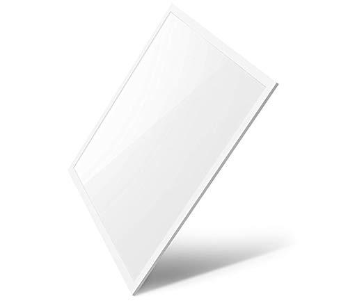 LED Panel Panelleuchte Deckenleuchte Deckenlampe Einbaupanel Deckenplatte Gewerbe Ultraslim weißer Rahmmen 62x62 cm 40w 3400 Lumen Kaltweiß -