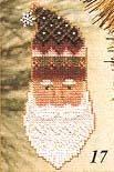 Kris Kringle Charmed Santa Face - Cross Stitch Kit