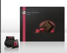 Nespresso Dark Chocolate Squares with Raspberry Pack of 40 pieces (200 g) Limited Edition