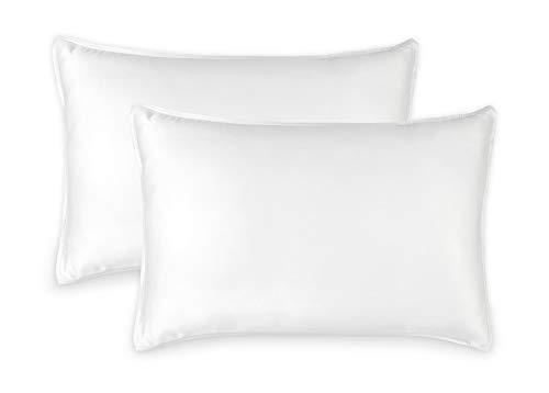 Pure Bamboo Sheets Bettwäsche-Set aus reinem Bambus, 2 Kissenbezüge, 100% Bambus, luxuriös, weich 2 Queen Pillowcases weiß -