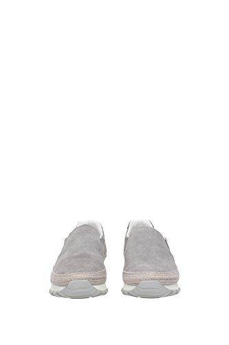 3S6015ACCIAIO Prada Pantoufle Femme Chamois Gris Gris