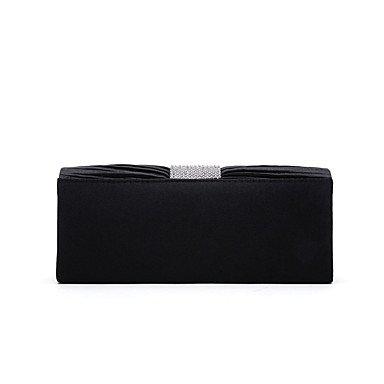 Frauen aus Polyester Satin formale Veranstaltung/Party Hochzeit Abend Tasche Handtasche Kupplung mehr Farben Black