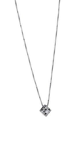Collana Punto Luce in oro Bianco 18 kt con diamante