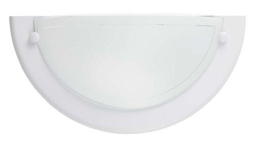 Brilliant 90196/05 Miramar - Aplique de pared (metal y cristal, 33 W), color blanco