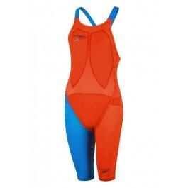 Speedo LZR Racer Elite 2 Closedback Kneesuit - Orange/Blue Size 29 -