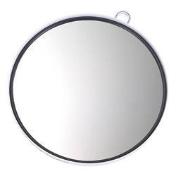 Efalock–specchio con cornice di plastica a mano e supporto da parete, colore: bianco, confezione da 1