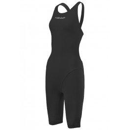 HEAD Liquidfire Power Open Back Knee Suit Damen Black/Black Größe S 2018 Schwimmanzug