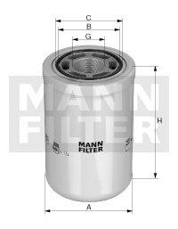 Preisvergleich Produktbild Mann-Filter WH 980 / 3 Hydraulikfilter,  Automatikgetriebe