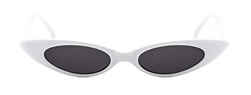 Sonnenbrille Cute Sexy Damen Cat Eye Sonnenbrille Kleine Katze Auge Sonnenbrille Uv 400 Weißen Rahmen Streuscheibe Schwarz