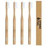 HYDROPHIL Bambus Zahnbürsten 4er Pack