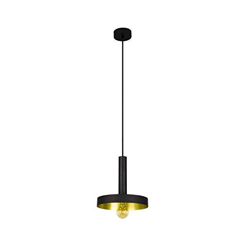 Barcelona Pendelleuchte (Leuchtturm 20160–Whizz Pendelleuchte schwarz/gold satiniert E2720W)
