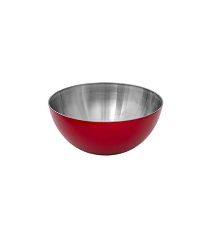 Secret de Gourmet - Saladier rouge en inox 13 cm
