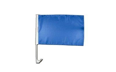 Autofahne Autoflagge Einfarbig Blau - 30 x 40 cm