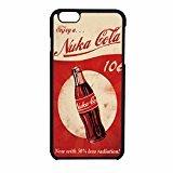 Fallout 4–nuka Cola–Logo iPhone 6/6S Fall (schwarz Kunststoff) (Cola Fällen)