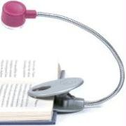 Flex Neck Reading Light (Raspberry) - Flex Neck Reading Light