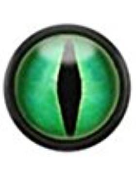 Paula & Fritz® Fake Plug aus Edelstahl Chirurgenstahl 316L und Acryl mit Logo Druck PAFX32