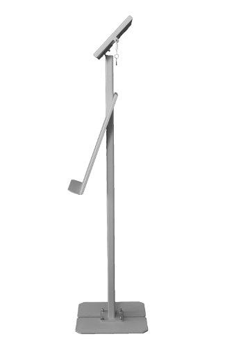 TabletStation Prospekthalter (1xDIN A4), silbergrau, Zubehör für TabletStation Bodenständer -