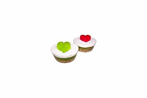 Mindestens 85 g, Apfel-Herz-Design, mit Duft, Dutt Seife. Geburtstag-Cupcake -