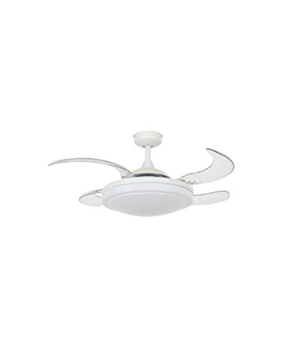 Beacon Fanaway Evora Ventilador de techo aspas retrácticles, Blanco, 94x94x38 cm