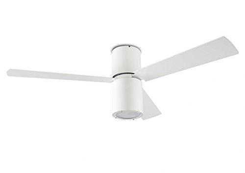 Diseño de ventilador de techo Formentera blanco luz 132 cm de LEDS-C4