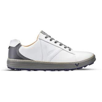 Callaway Golf Herren Delmar Retro Golfschuhe - Weiß/Charcoal - UK 11