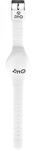 Orologio ZITTO a led con cinturino in silicone Ice White Bianco Grande