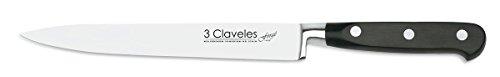 3Claveles Forgé - Cuchillo para filetear forjado, 19 cm, 7.5 pulgadas