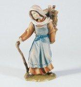 Hirtin mit Holzkrax * bunt bemalt * 14 (Hirtin Kostüme)