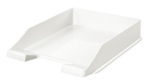 HAN Briefablage KLASSIK 1027-X-12 in Weiß/Hochwertige, stapelbare Ablage im modernen Design/Für Briefe & Papiere bis Format A4-C4, 10 Stück