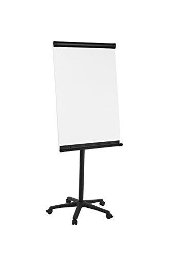 Bi-Office Lavagna Portablocco Portatile, Cavalletto Mobile Senza Cornice Nero, Superficie Magnetico, Dimensioni Panello Euro - 700 x 1000 mm