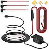 Dash Cam Hardwire Kit Micro USB câble rigide Kit chargeur de voiture câble 12V à 5V pour Dash appareils GPS (Micro-USB et jeu de fusibles)