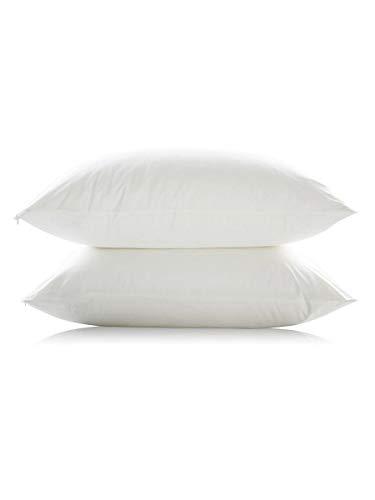 JELA Startseite Bamboo/Cotton Pillow Protector Wasserdichter Kissenbezug Atmungsaktiv & Hypoallergen (Color : White, Size : Standard 51X66CM) -