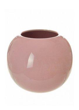 Keramik-Kugel Vase Shape,/Container In Pink und Weiß/Orange rose
